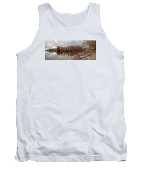 Maine Lake In Autumn Tank Top