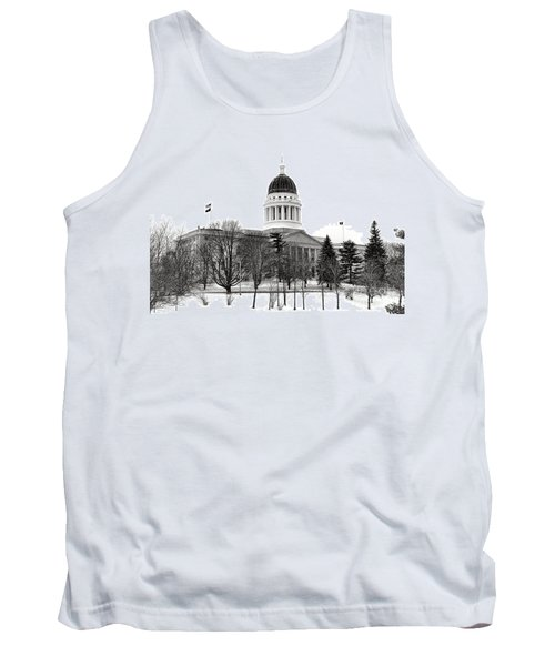 Maine State Capitol In Winter Tank Top