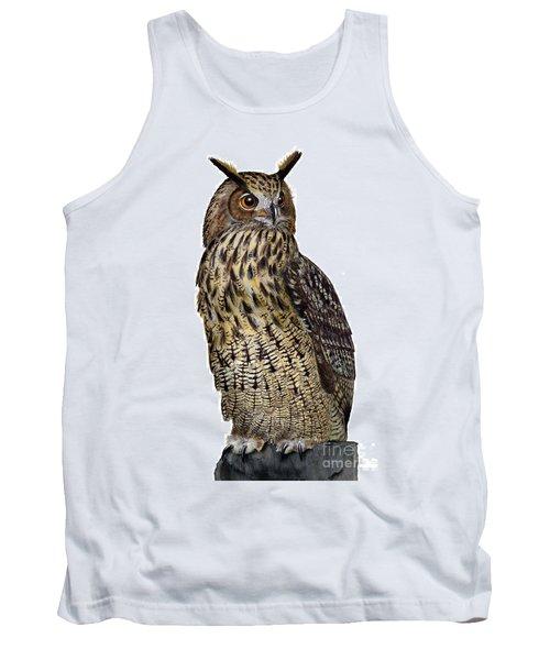 Majestic Eurasian Northern Eagle Owl Bubo Bubo - Hibou Grand-duc - Buho Real - Nationalpark Eifel Tank Top