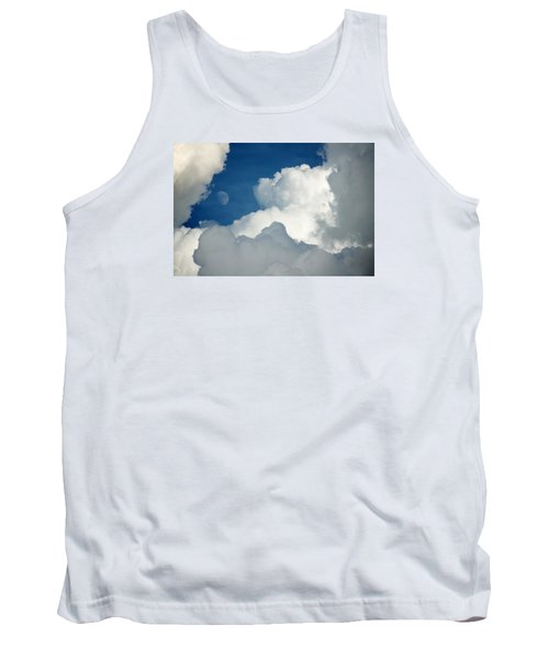 Majestic Storm Clouds With Moon Tank Top