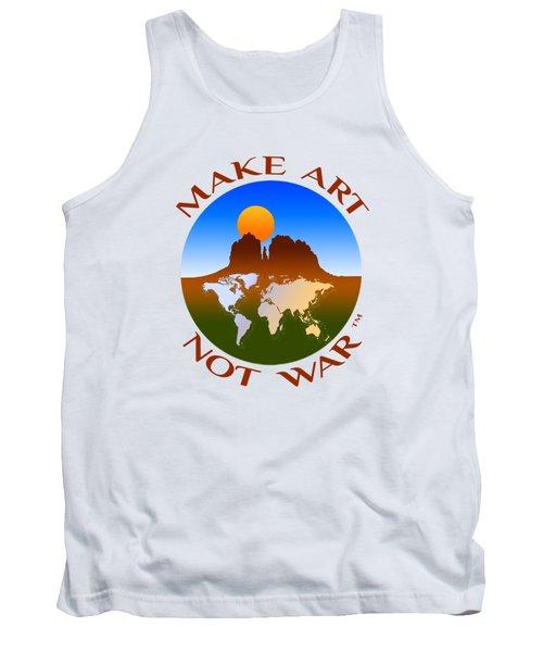 Make Art Not War Logo Tank Top