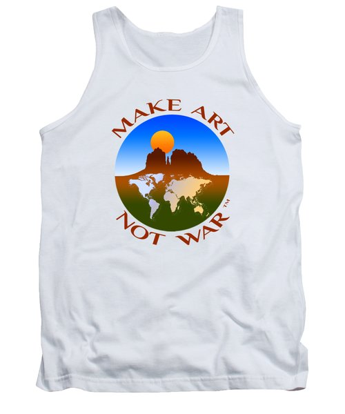 Make Art Not War Logo Tank Top