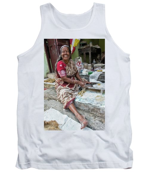 Tank Top featuring the photograph Making Chapatti by Marion Galt