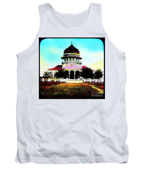 Tank Top featuring the photograph Malay Mosque Singapore Circa 1910 by Peter Gumaer Ogden