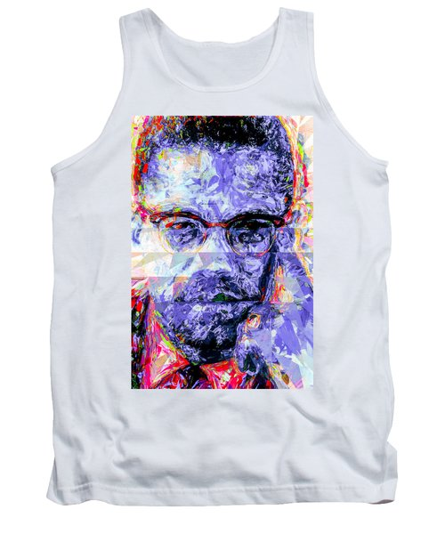 Malcolm X Digitally Painted 1 Tank Top by David Haskett