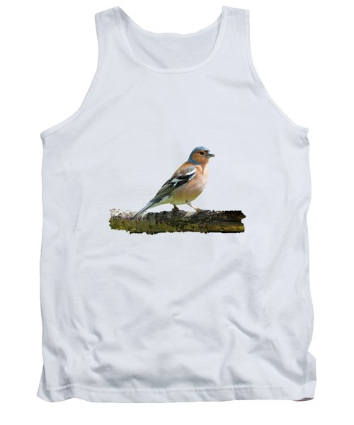 Male Chaffinch, Transparent Background Tank Top by Paul Gulliver