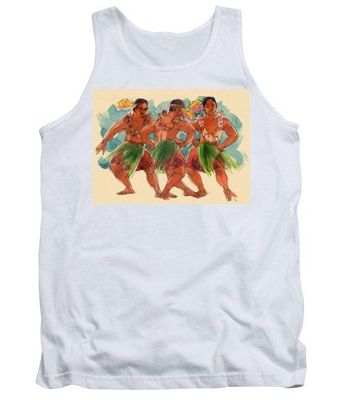 Male Dancers Of Lifuka, Tonga Tank Top