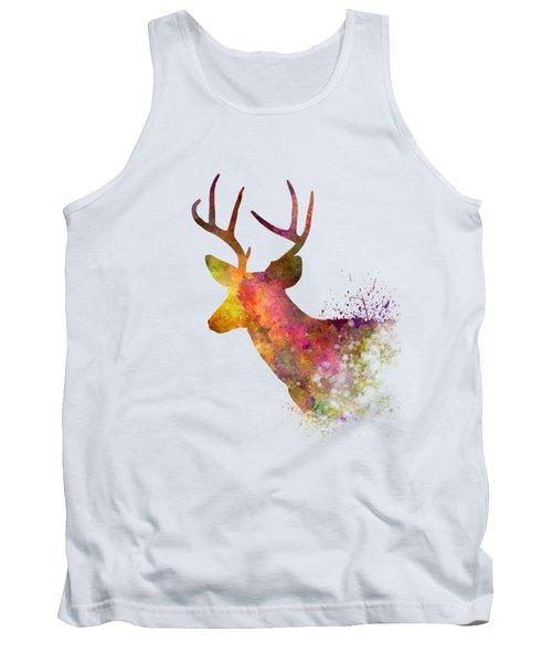 Male Deer 02 In Watercolor Tank Top