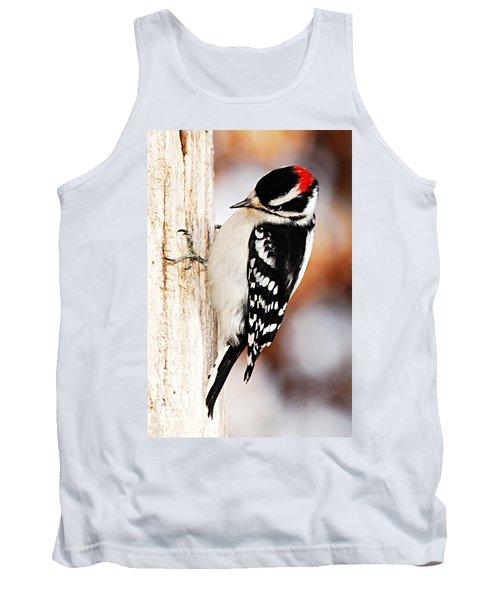 Male Downy Woodpecker 3 Tank Top