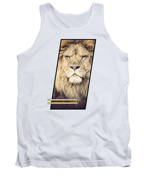 Male Lion Tank Top by Sven Horn