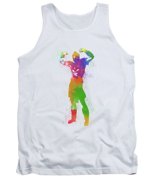 Male Watercolor Pose 1 Tank Top