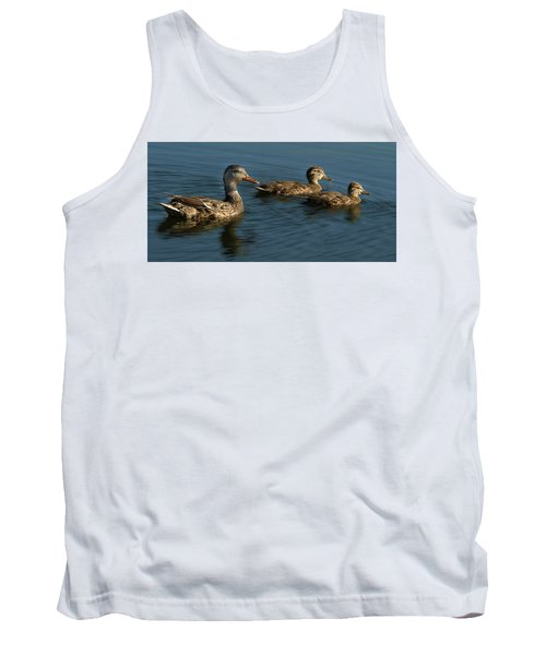Tank Top featuring the photograph Mallard Family Outing by Jean Noren