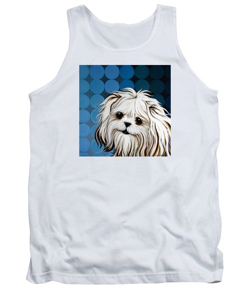 Tank Top featuring the painting Maltese Magic by Leanne WILKES