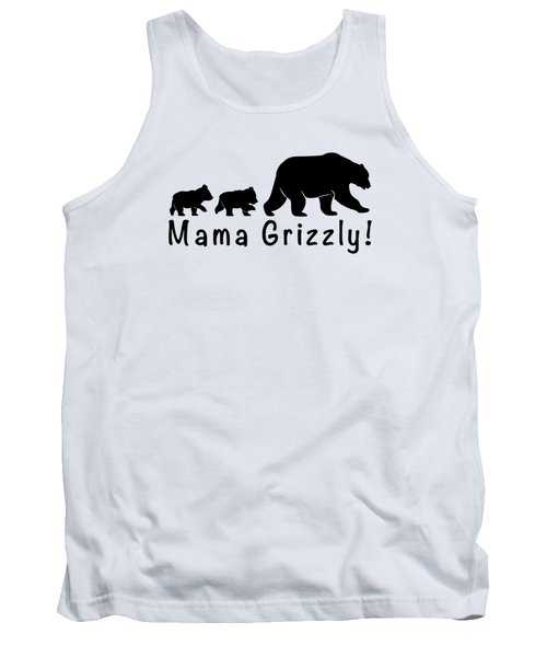 Mama Grizzly And Cubs Tank Top by A C