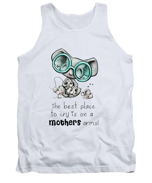 Tank Top featuring the digital art Mamma Mouse by Lizzy Love