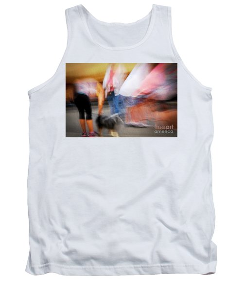 Woman Playing With Dog Tank Top