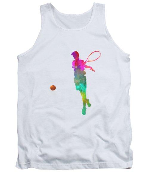 Man Tennis Player 01 In Watercolor Tank Top