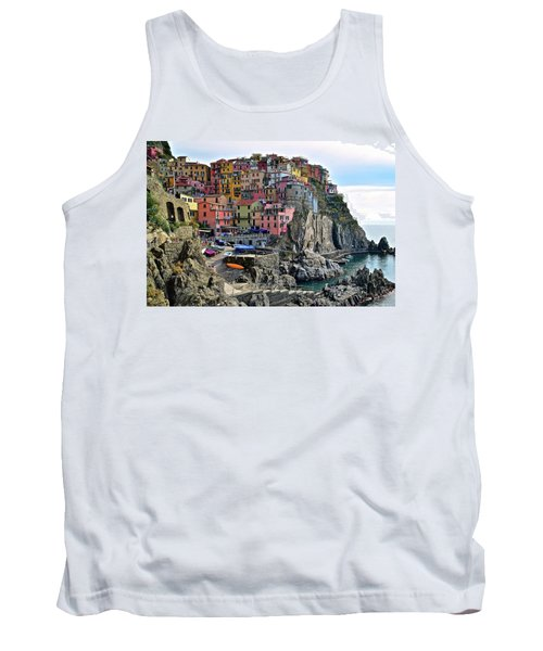 Tank Top featuring the photograph Manarola Version Four by Frozen in Time Fine Art Photography