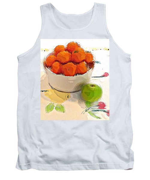 Mandarin With Apple Tank Top