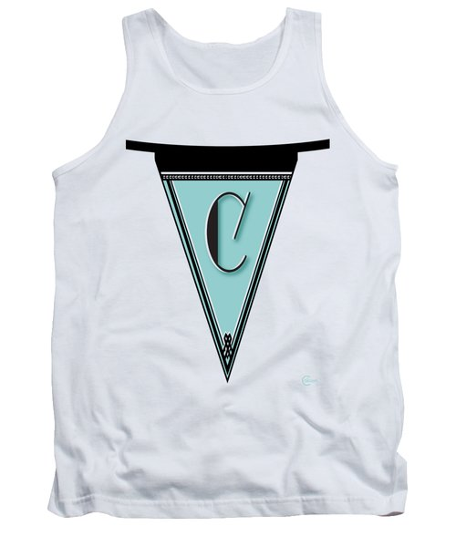 Pennant Deco Blues Banner Initial Letter C Tank Top