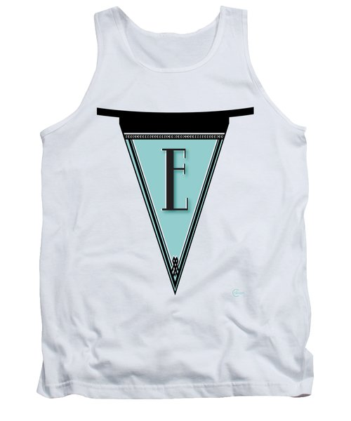 Pennant Deco Blues Banner Initial Letter E Tank Top