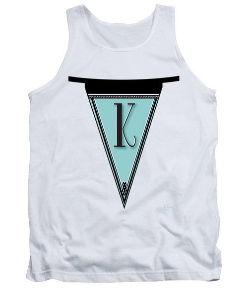 Pennant Deco Blues Banner Initial Letter K Tank Top