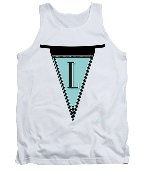 Pennant Deco Blues Banner Initial Letter L Tank Top