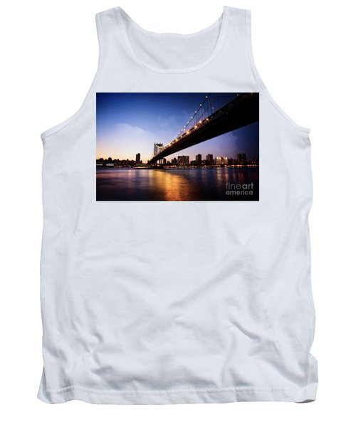 Tank Top featuring the photograph Manhattan Bridge by Scott Kemper