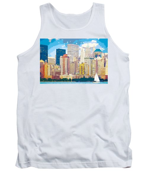 Manhattan Skyline New York City Tank Top