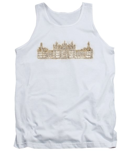 Map Of The Castle Chambord Tank Top by Anton Kalinichev