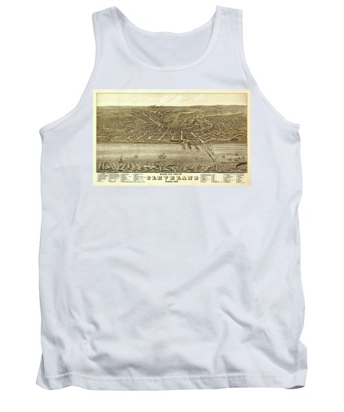 Map Of Cleveland 1877 Tank Top