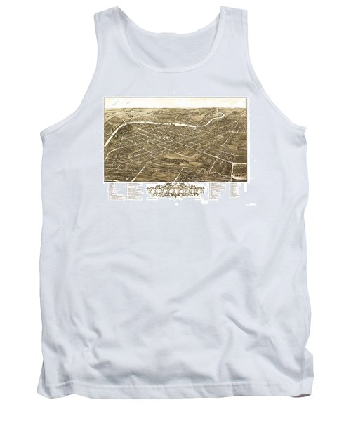 Map Of Youngstown Ohio 1882 Tank Top