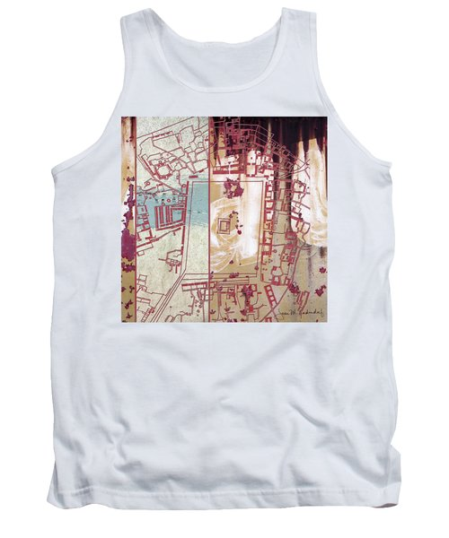 Maps #27 Tank Top by Joan Ladendorf
