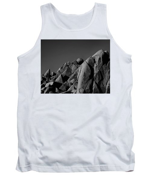 Marble Rock Formation B And W Version Tank Top