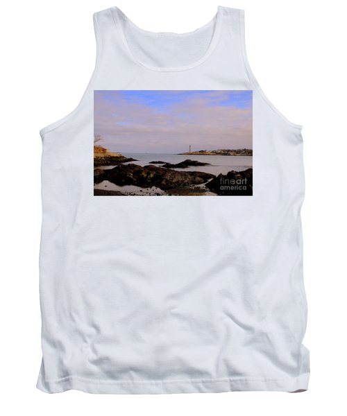 Marblehead Harbor And Light Tank Top