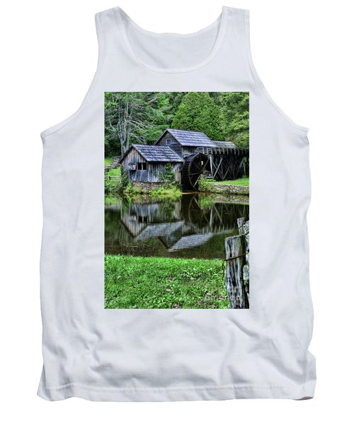 Tank Top featuring the photograph Marby Mill Reflection by Paul Ward