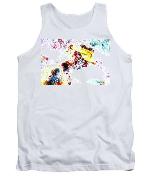 Maria Sharapova Paint Splatter 4p                 Tank Top by Brian Reaves