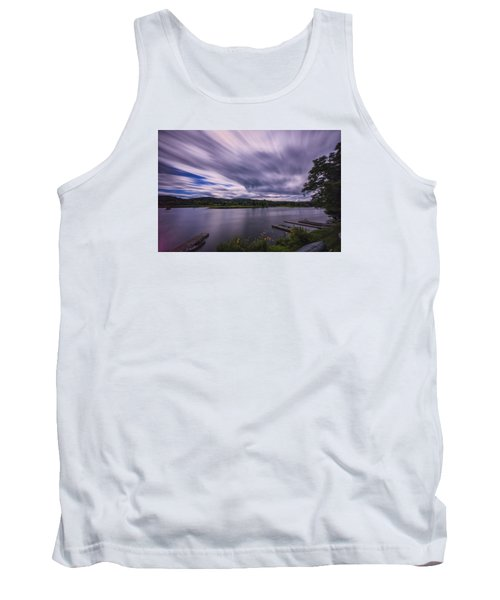 Tank Top featuring the photograph Marina Sky by Tom Singleton