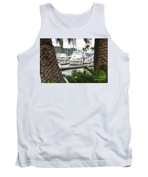Tank Top featuring the photograph Marina View by Yurix Sardinelly