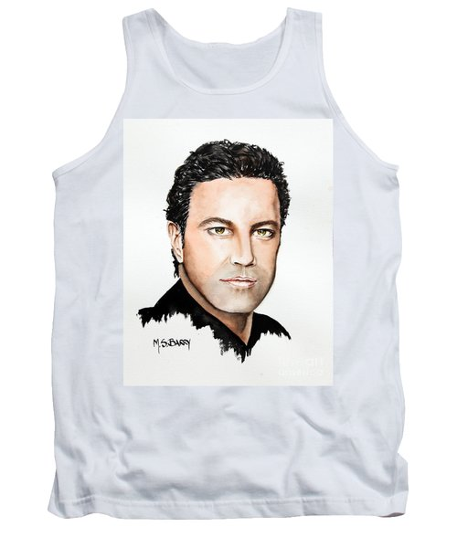 Tank Top featuring the painting Mario Frangoulis by Maria Barry