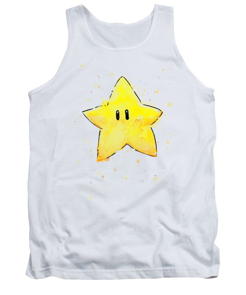 Mario Invincibility Star Watercolor Tank Top