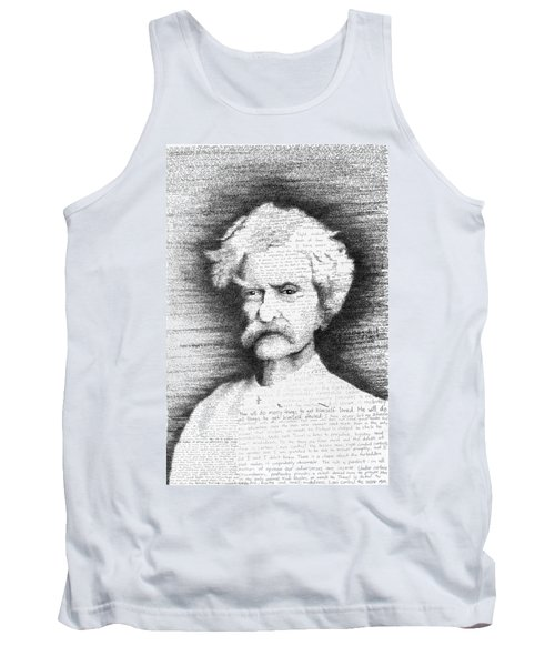 Mark Twain In His Own Words Tank Top by Phil Vance
