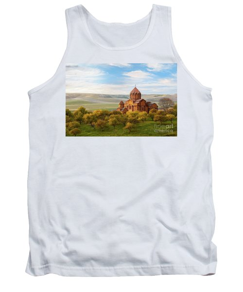Marmashen Monastery Surrounded By Yellow Trees At Autumn, Armeni Tank Top
