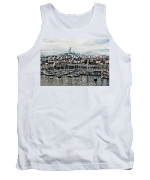 Tank Top featuring the photograph Marseilles France Harbor by Alan Toepfer