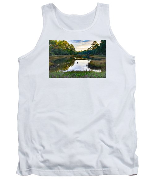 Marsh In The Morning Tank Top by Patricia Schaefer