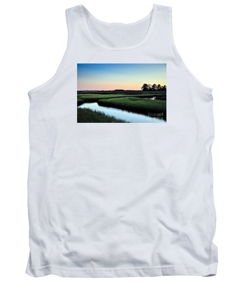 Marsh Sunset Tank Top by Debbie Green