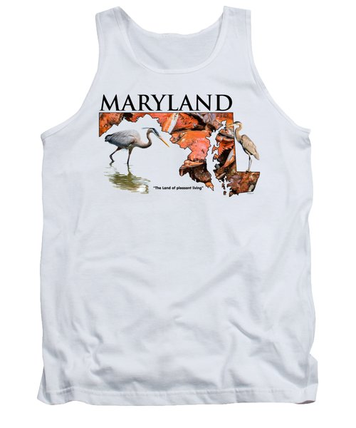 Maryland - The Land Of Pleasant Living Tank Top