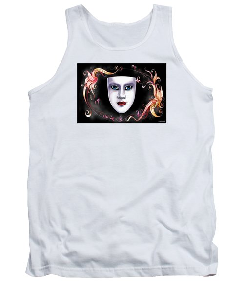 Tank Top featuring the photograph Mask And Vines by Gary Crockett