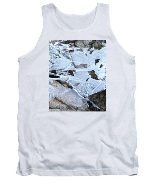 Tank Top featuring the photograph Ice Mask Abstract by Glenn Gordon