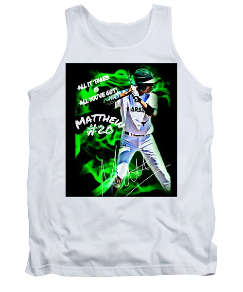 Tank Top featuring the photograph Matthew #20 by Linda Cox